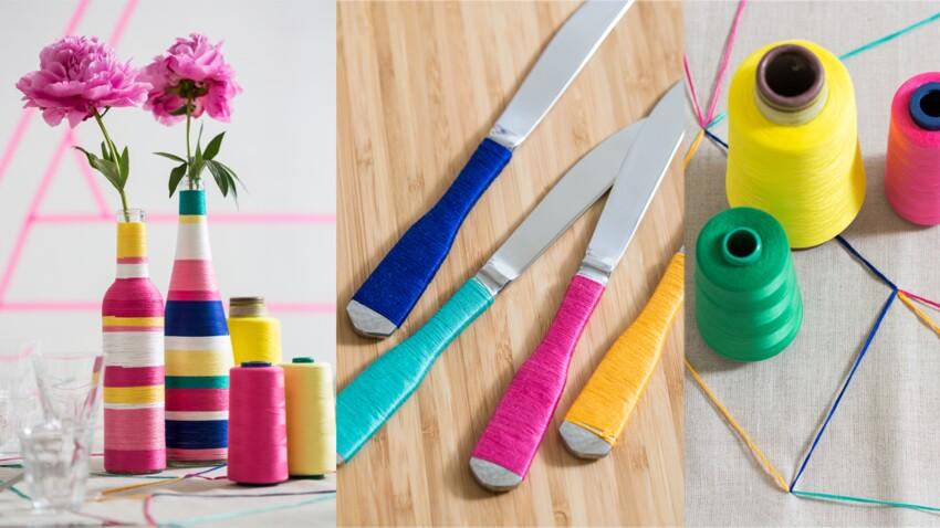 Comment décorer un vase avec du fil ?