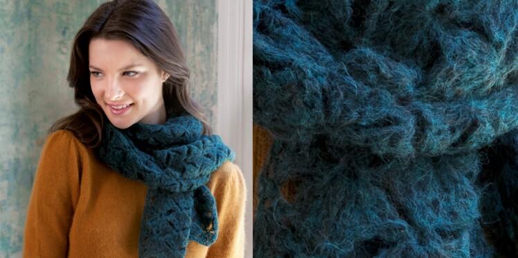 Tricot : 23 modèles d'écharpes et de châles à faire soi-même