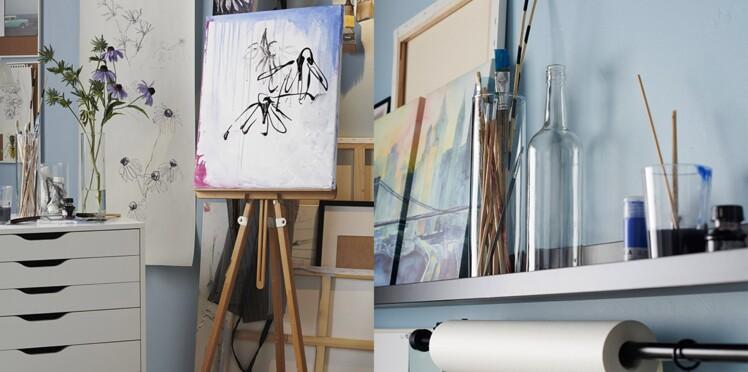 Aménager un atelier d'artiste à petit prix avec IKEA