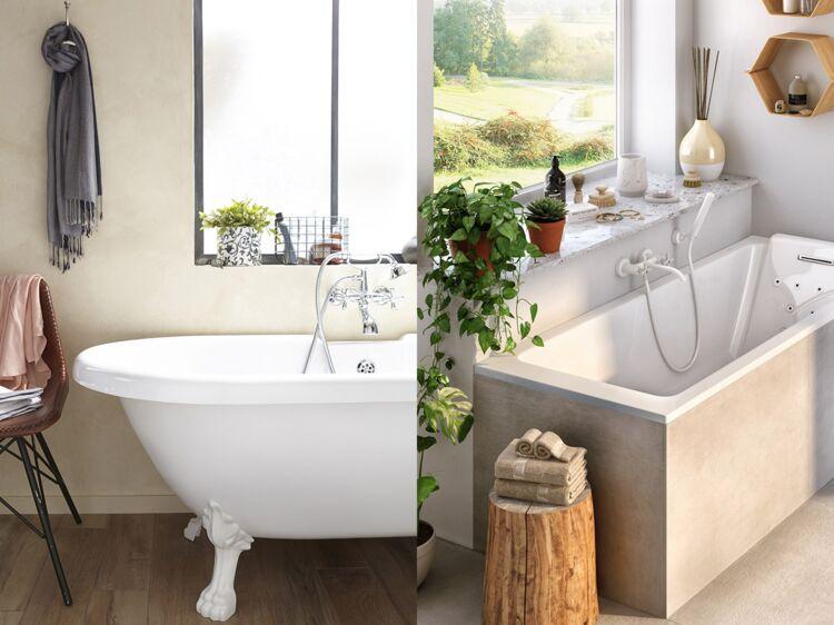 am nagement de la salle de bain quelle dimension de baignoire choisir femme actuelle le mag. Black Bedroom Furniture Sets. Home Design Ideas