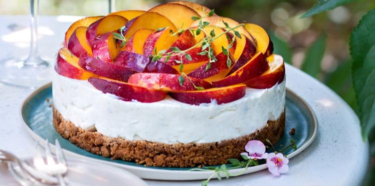 Cheesecake aux nectarines