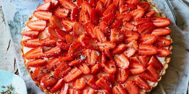 Tarte aux fraises délicatement poivrée