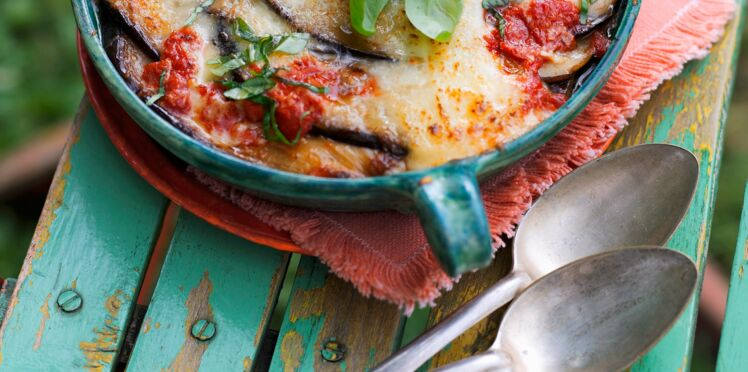 Gratin d'aubergines fondantes à la mozzarella
