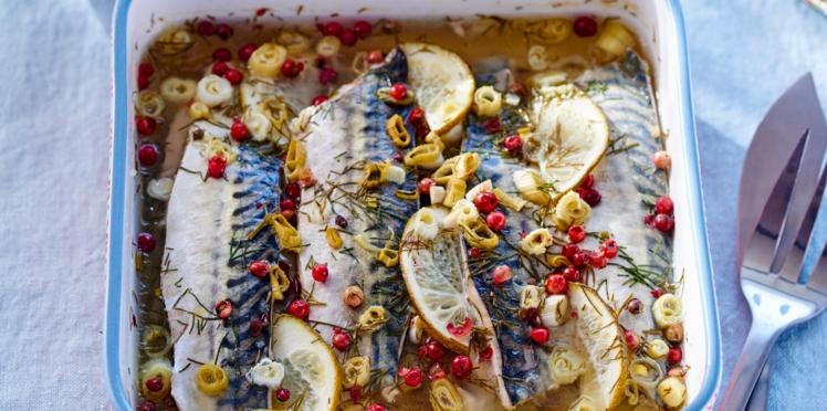 Terrine de maquereaux en gelée acidulée