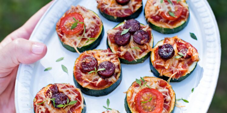 Pizzettes de courgettes au chorizo