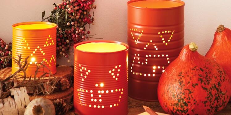 Bricolage d'Halloween : une lanterne dans une boîte de conserve