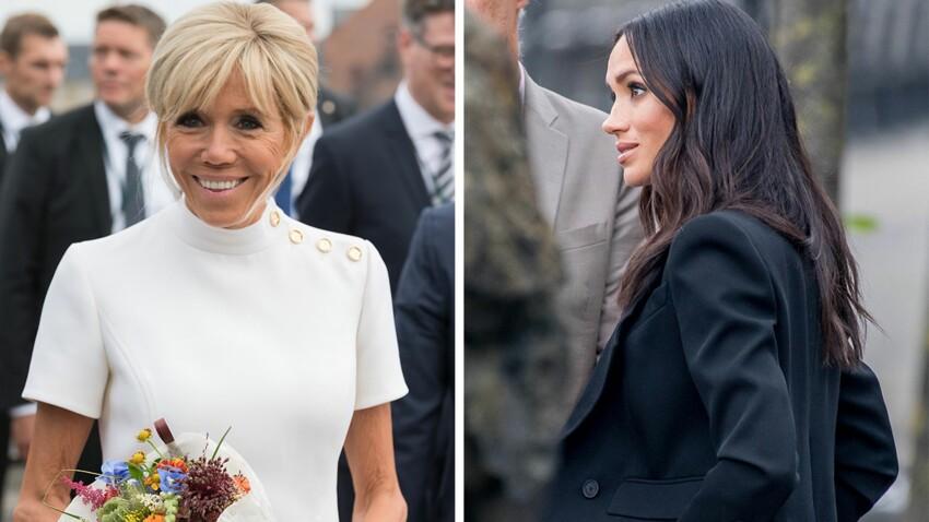 Meghan Markle ou Brigitte Macron : laquelle des deux est la mieux habillée selon la presse US ?
