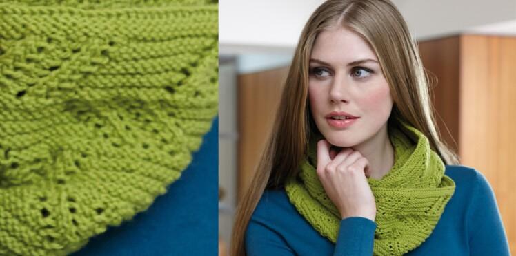 Modèle gratuit de snood à tricoter soi-même   Femme Actuelle Le MAG ce95563b4a9