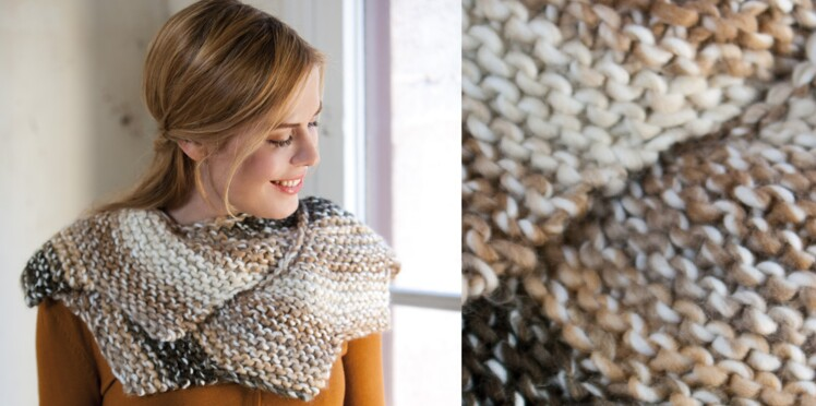 Le snood au tricot et crochet