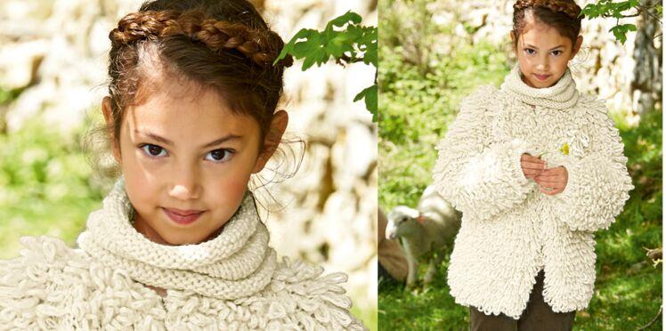 Modèle de tricot gratuit : le snood écru pour enfant