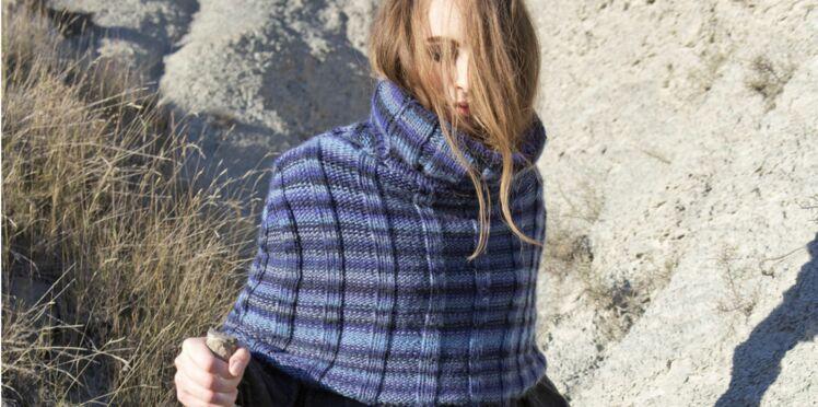 Modèle de tricot gratuit : le snood poncho