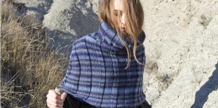 Modèle de tricot gratuit   le snood poncho   Femme Actuelle Le MAG 5c97bc83b3e