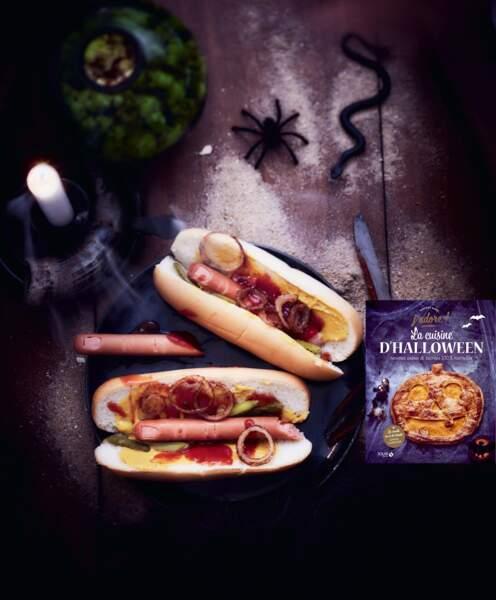 Hot dog de doigts pour un apéritif d'Halloween