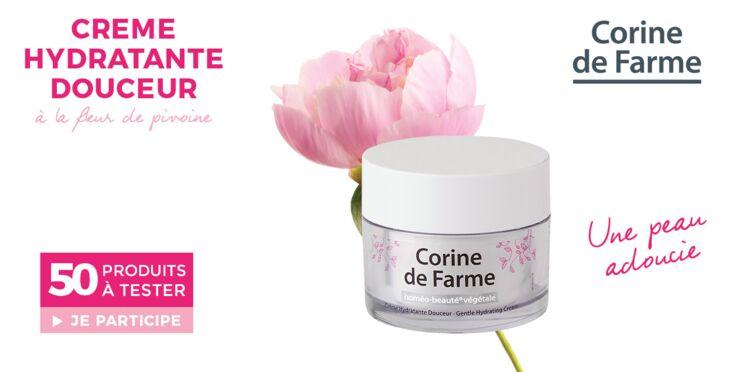 Testez la crème hydratante douceur Corine de Farme
