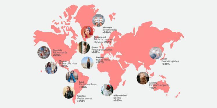 Les tendances mode les plus recherchées à travers le monde sur Pinterest