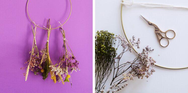 DIY : comment faire un dreamcatcher de fleurs séchées
