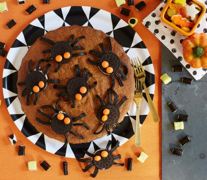 Un gâteau araignées