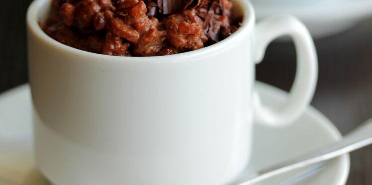 Riz de konjac sauce choco-noisette
