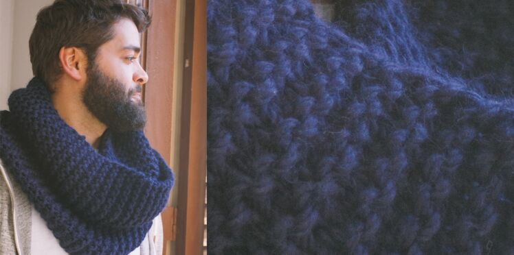 Le snood point mousse pour homme