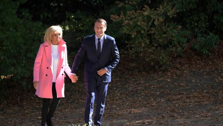 Photos - Brigitte Macron a recyclé son beau manteau rose ce week-end