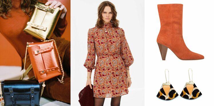 Comment porter le orange, couleur tendance de l'automne 2018 ? Nos conseils et modèles coups de coeur