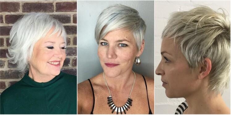 7 coupes courtes pour cheveux blancs