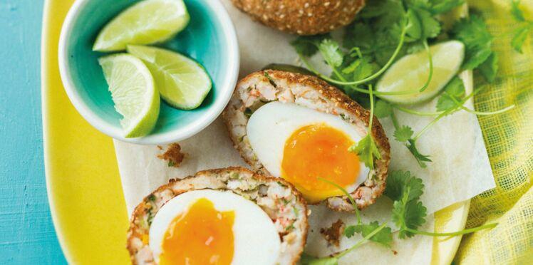 Scotch eggs aux crevettes