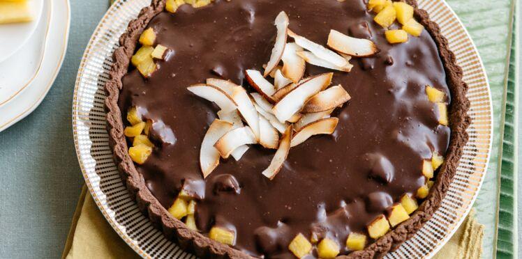 Tarte à l'ananas et au chocolat