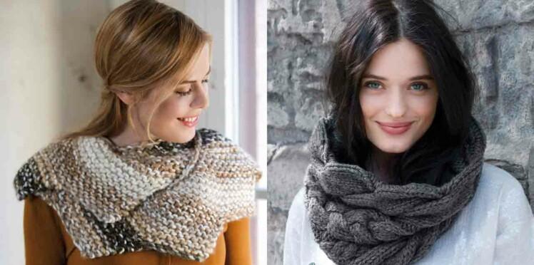 Snood au tricot   les plus beaux modèles gratuits   Femme Actuelle ... 0c5c4bc32b9