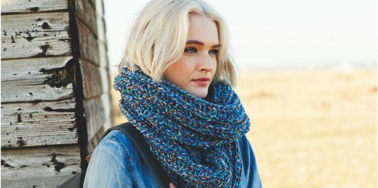 Tricot : un snood en laine