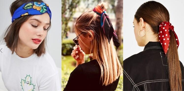 profiter de gros rabais technologies sophistiquées style unique Cheveux : 20 idées de coiffures avec un foulard : Femme ...