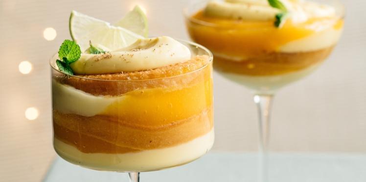 Trifle mangue, coco et citron vert