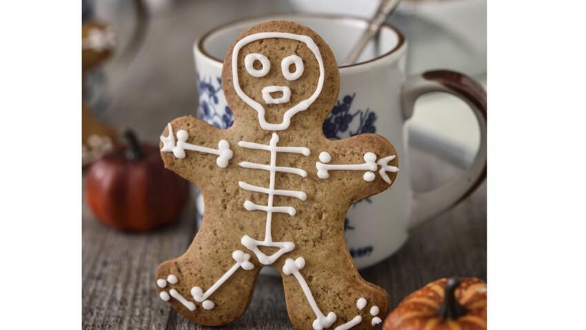 Biscuit squelette d'Halloween