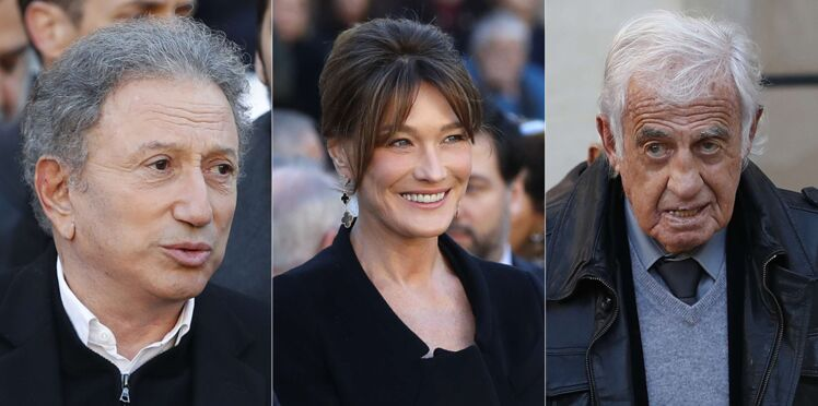 Photos - Carla Bruni, Michel Drucker, Jean-Paul Belmondo, Dany Boon… Tous réunis à l'hommage de Charles Aznavour