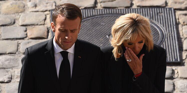 Photos : Brigitte Macron en larmes durant l'hommage national rendu à Charles Aznavour