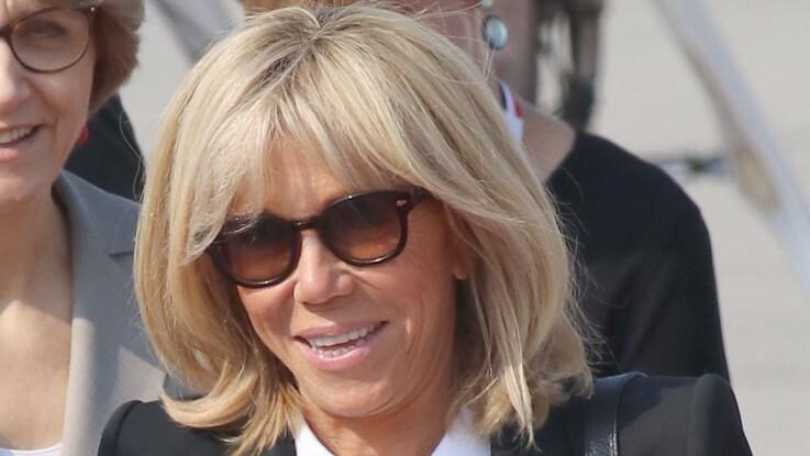 Brigitte Macron sobre et élégante pour un dernier hommage à Aznavour