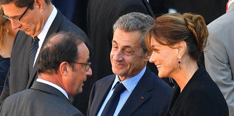 Photos : Nicolas Sarkozy et François Hollande complices lors de l'hommage rendu à Charles Aznavour