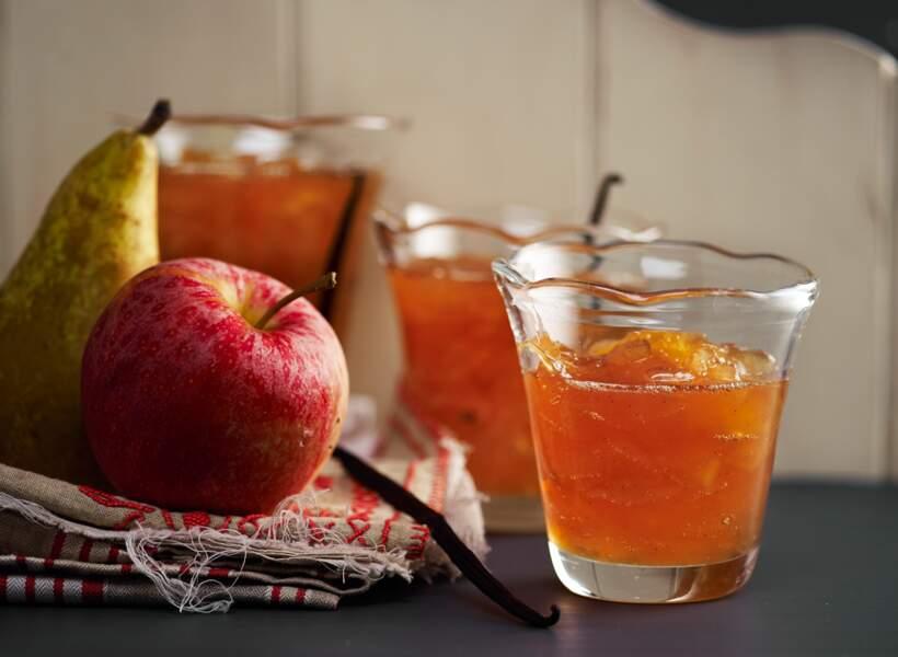 Confiture pommes-poires aux fruits secs