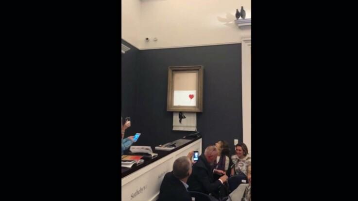 Auto-destruction du tableau de Banksy: un mystère et des questions
