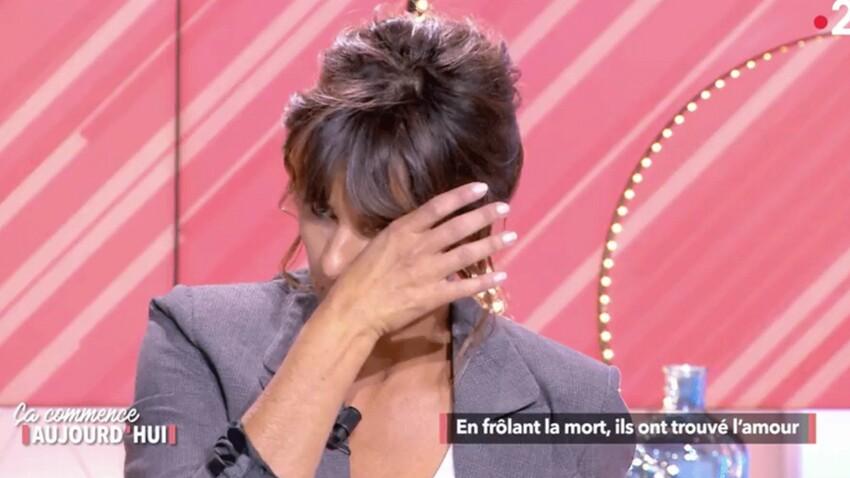 Faustine Bollaert en larmes face au témoignage d'une femme victime de violences conjugales dans Ça commence aujourd'hui