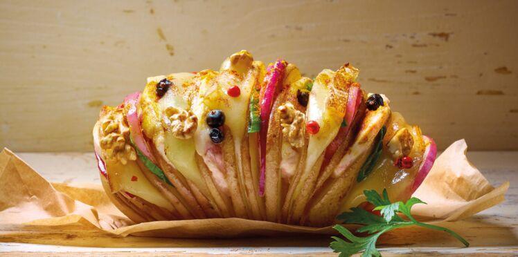 Eventail de pommes de terre au beaufort