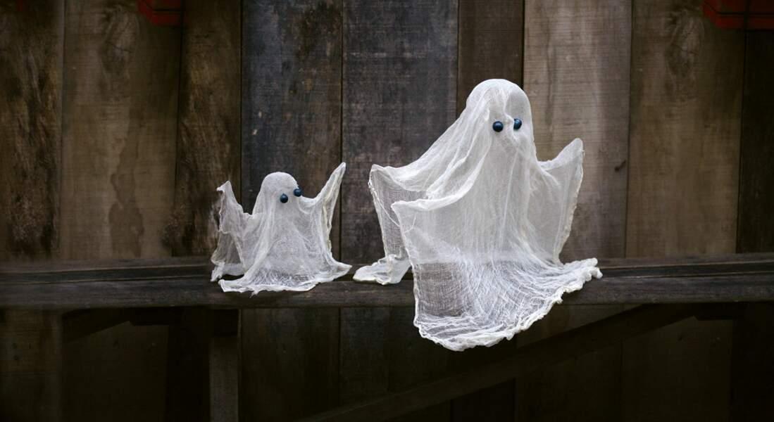 Déco récup : un fantôme pour Halloween