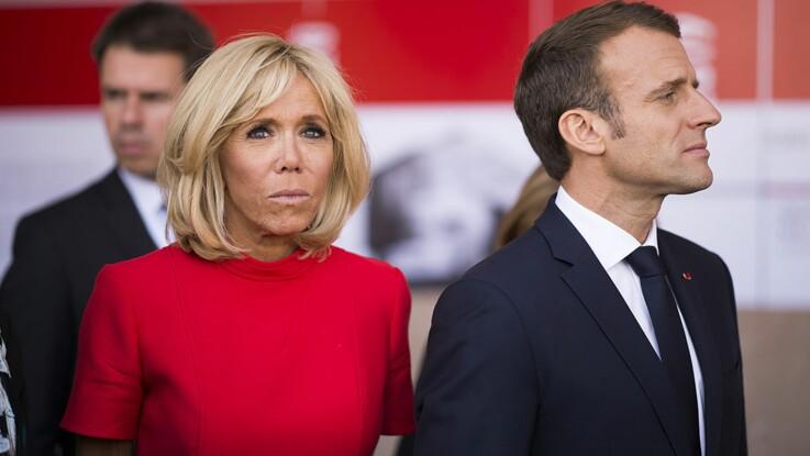 Brigitte Macron, sublime en robe dentelle