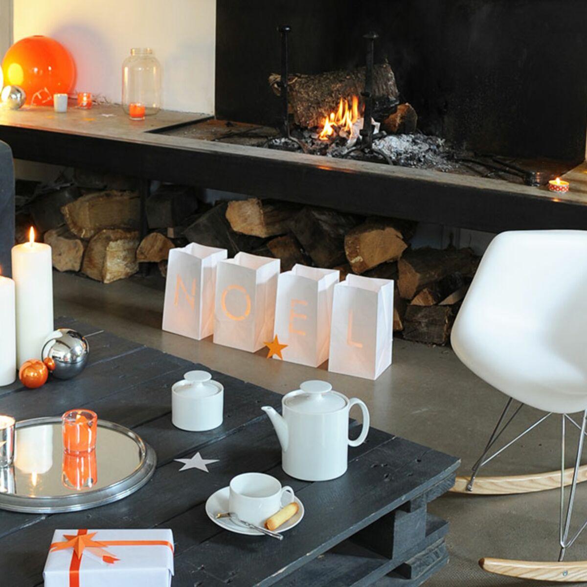 Bricolage de Noël : une déco facile et rapide en orange et blanc