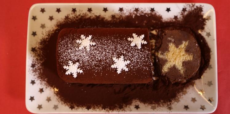La recette de la bûche surprise hyper facile pour Noël