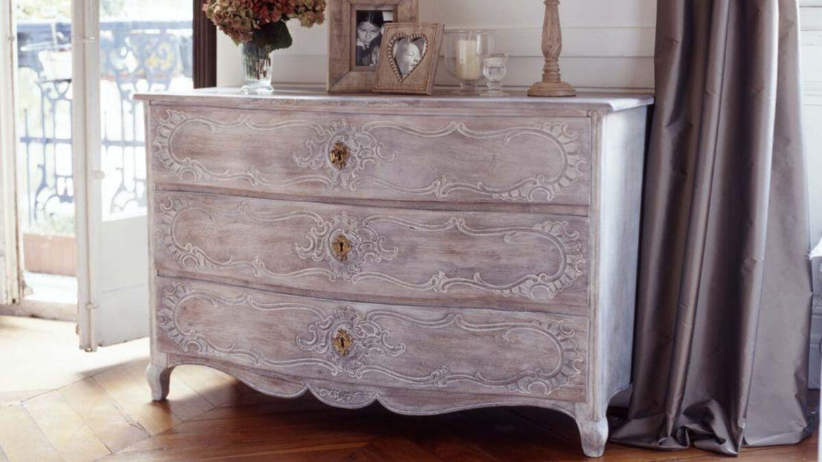 Peinture A Paillette Pour Meuble comment céruser un meuble en bois : femme actuelle le mag