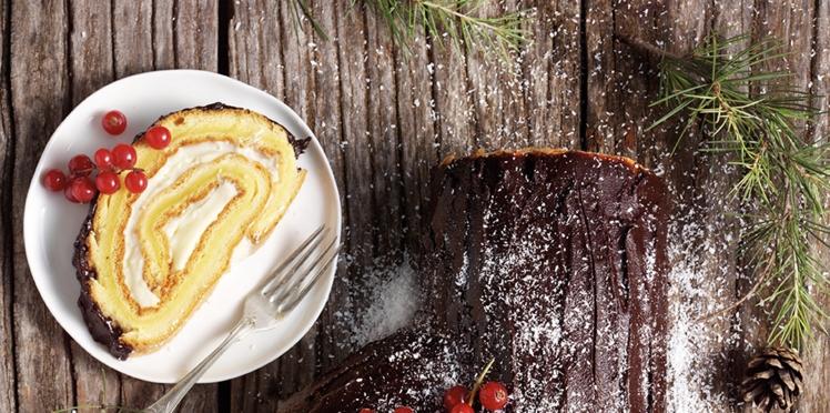 Bûche de Noël vanille-chocolat