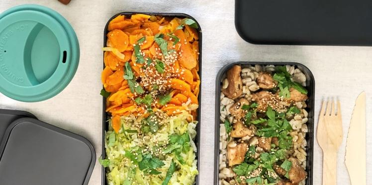 Crozets au poulet grillé, poêlée de carottes aux oignons et poireaux