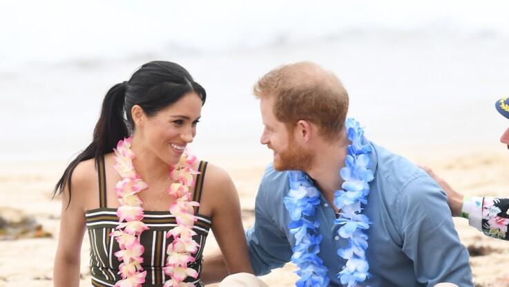 Photos - Meghan Markle enceinte et rayonnante, la main sur le ventre avec le prince Harry