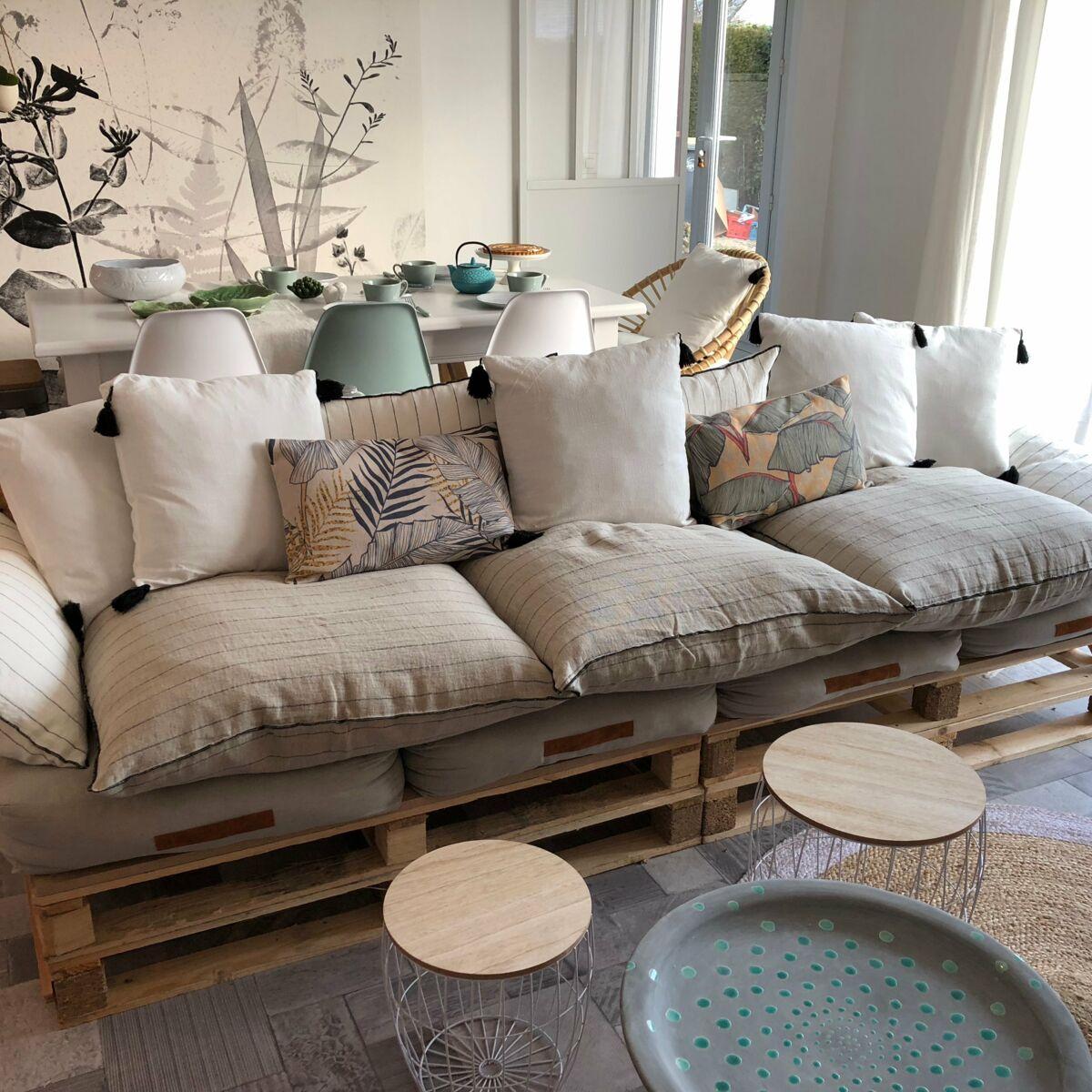 Tete De Lit En Palette Prix comment construire un salon en palette ? : femme actuelle le mag